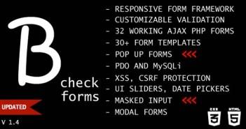 Script PHP para crear formularios web con soporte AJAX: B-check Forms