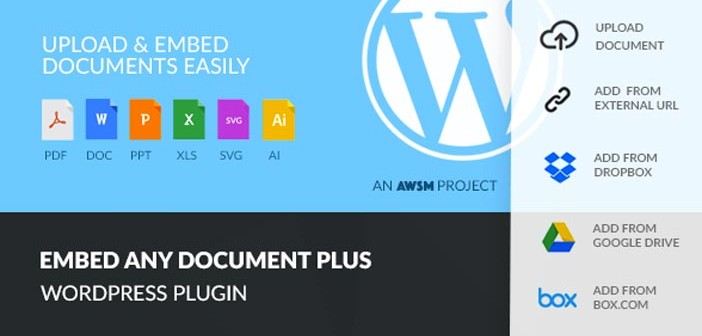 Plugins Wordpress para Dropbox: Embed Any Document Plus