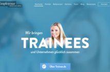 Ejemplos de sitios web que usan efecto dedesenfoque en sus fotografías: Employour