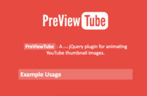 Plugins jQuery gratuitos para integrar Youtube en tu sitio web: PreviewTube