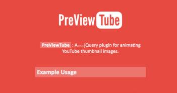 Plugins jQuery gratuitos para integrar Youtube en tu sitio web: PreviewTube