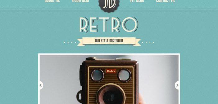 Temas Wordpress de pago que aplican el estilo vintage en su diseño: Retro Portfolio