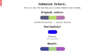 Herramientas para generar paletas de colores que todo diseñador debería conocer: Cohesive Colors