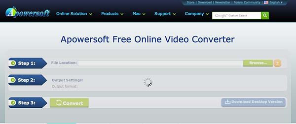 Conversor HTML video Apowersoft