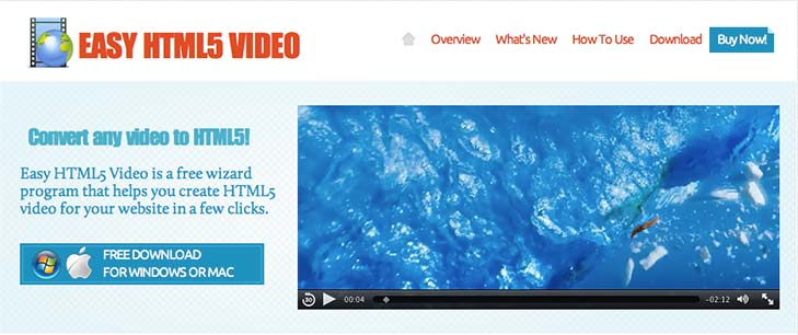 Conversor HTML video Easy HTML5 Video
