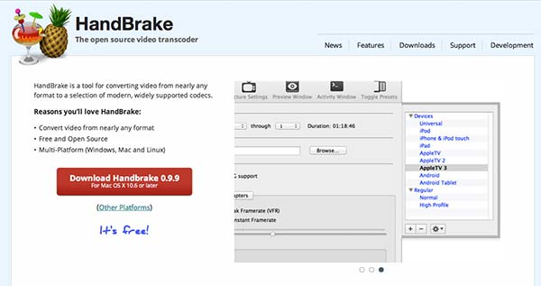 Conversor HTML video Handbrake