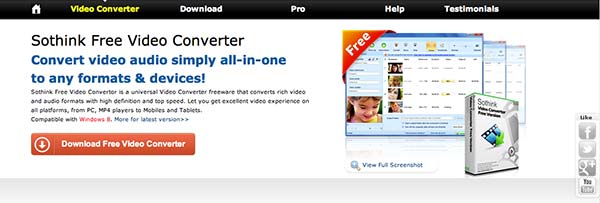 Conversor HTML video Sothink Video Converter