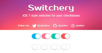 Javascript plugin Switchery