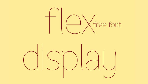 Tipografia Web Flex Display