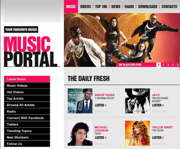 Temas WordPress Music Portal