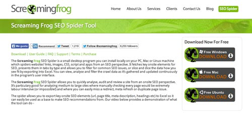 Herramientas SEO para bloggers: Screaming Frog SEO Spider