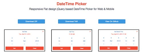 Javascript plugin para añadir calendarios: DateTime Picker