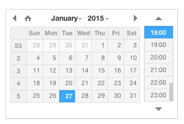 Javascript plugin para añadir calendarios: DateTimePicker