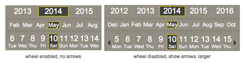 Javascript plugin JQuery.Calendar Picker