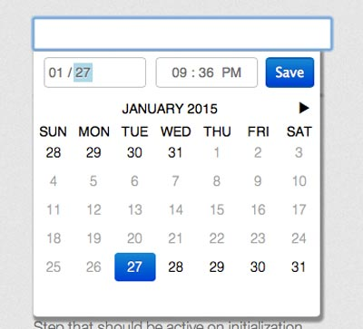 Javascript plugin para añadir calendarios: JQuery.filthypillow