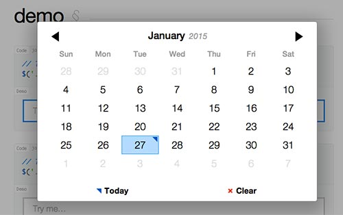 Javascript plugin para añadir calendarios: Pickadate.js