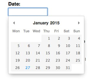 Javascript plugin para añadir calendarios: Pikaday