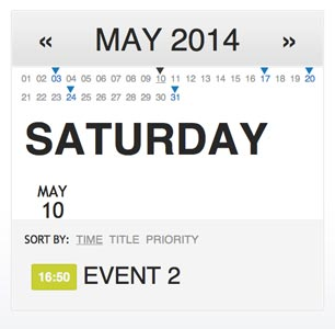 Javascript plugin Simple Events Calendar JS