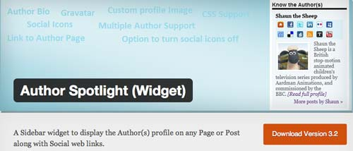Plugin WordPress Author Spotlight