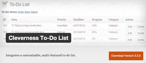 Plugin WordPress Cleverness To-Do-List