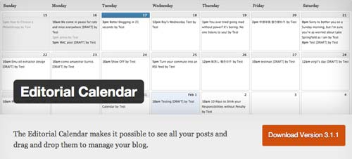 Plugin WordPress Editorial Calendar