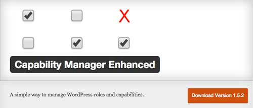 Plugin WordPress para gestionar blog con autores múltiples: Capability Manager Enhanced