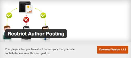 Plugin WordPress para gestionar blog con autores múltiples: Restrict Author Posting