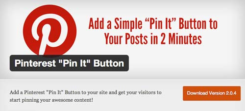 "Plugin WordPress Pinterest ""Pin It"" Button"