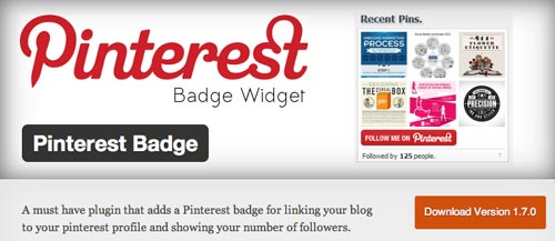 Plugin WordPress Pinterest Badge