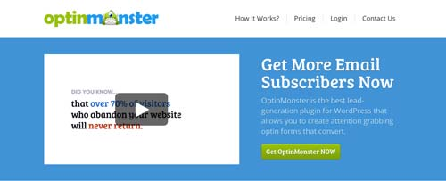 Plugin WordPress para crear ventanas emergentes OptinMonster