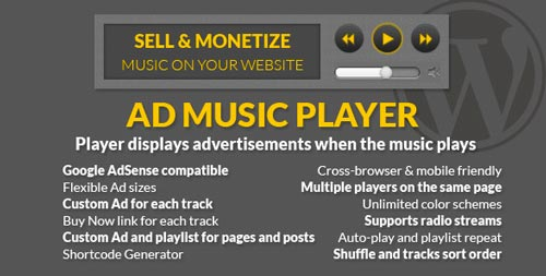 Plugin WordPress para incorporar reproductor multimedia: Ad Music Player