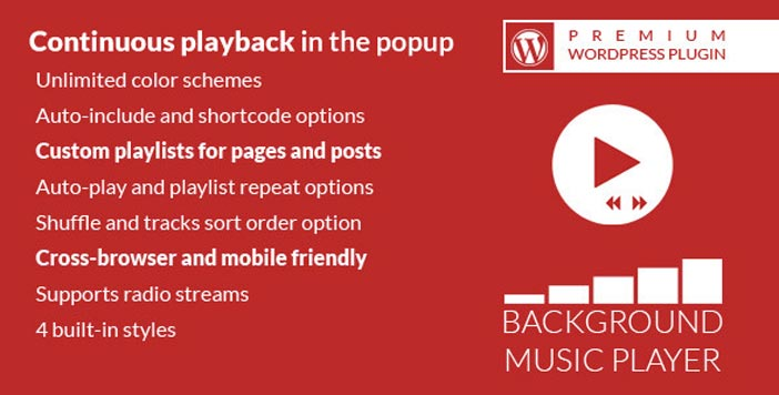 Plugin WordPress para incorporar reproductor multimedia: Background Music Player