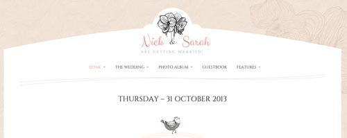 Temas WordPress para bodas The Wedding Day