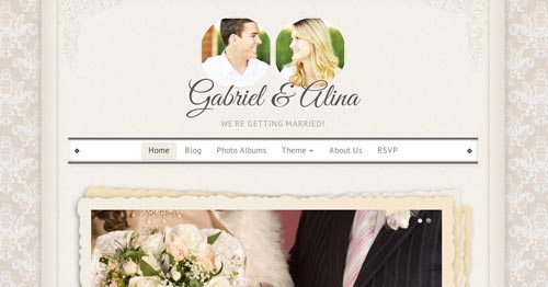 Temas WordPress parta bodas Vintage Wedding
