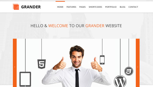 Temas WordPress Corporativos:  Grander