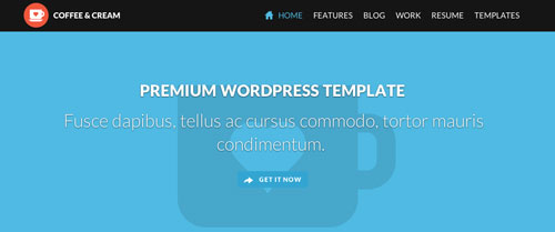 Temas WordPress con aplicación del Flat Design Coffee & Cream