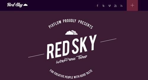 Temas WordPress con aplicación del Flat Design Red Sky