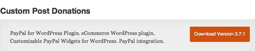 Plugin WordPress para campañas de donación: Custom Post Donations
