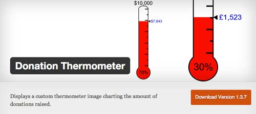 Plugin WordPress para campañas de donación: Donation Thermomether