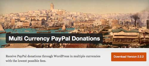 Plugin WordPress para campañas de donación:  Multi Currency PayPal Donations