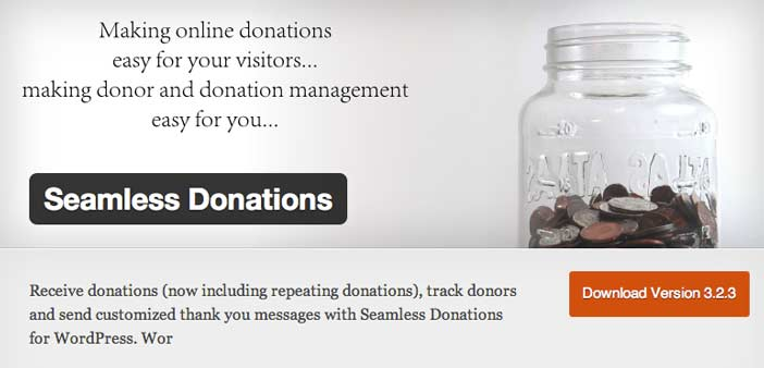 Plugin WordPress para campañas de donación: Seamless Donations
