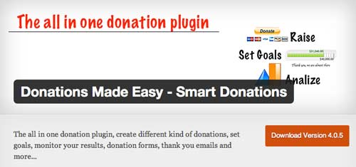 Plugin WordPress para campañas de donación: Smart Donations
