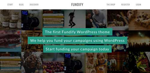 Temas WordPress para proyectos de financiación colectiva: Fundify