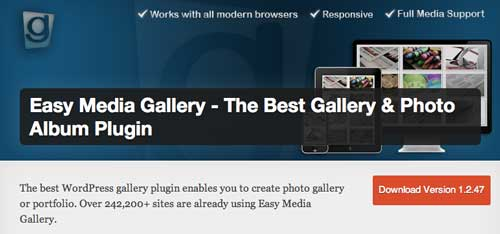 Plugin WordPress para optimizar portafolio: Easy Media Gallery