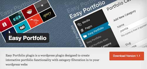 Plugin WordPress para optimizar portafolio: Easy Portfolio