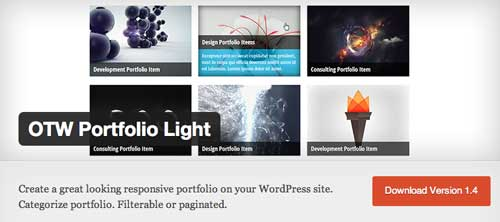 Plugin WordPress para optimizar portafolio: OTW Portfolio Light