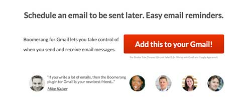 Gmail Extension: Boomerang