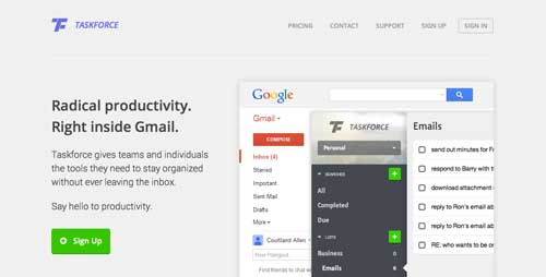 Gmail Extension: Taskforce