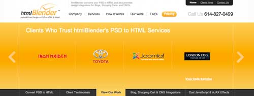 Servicio PSD to WordPress: HTMLBlender