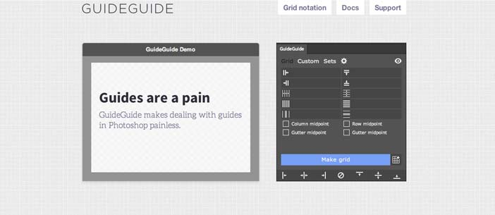 Plugin Photoshop para simplificar tareas: GuideGuide